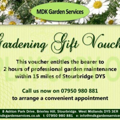 Gardening Gift Voucher